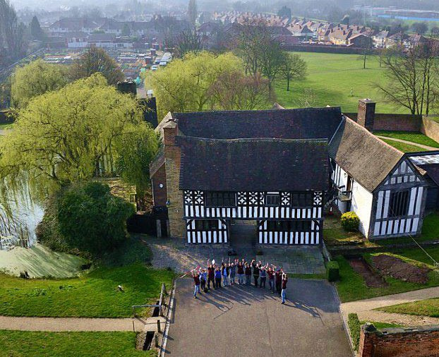 Arial view of Manor House Museum